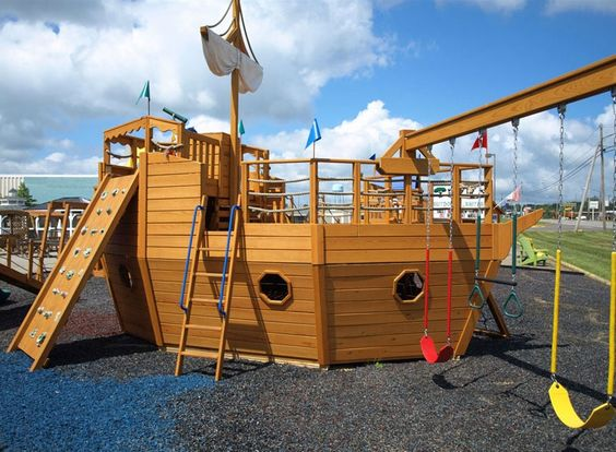 playhouse swing set plans | 911 Pirate Ship Playhouse Playset | My house...someday | Pinterest ...