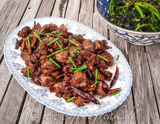 Hühnerleber nach Szechuan-Art – Foodfreak