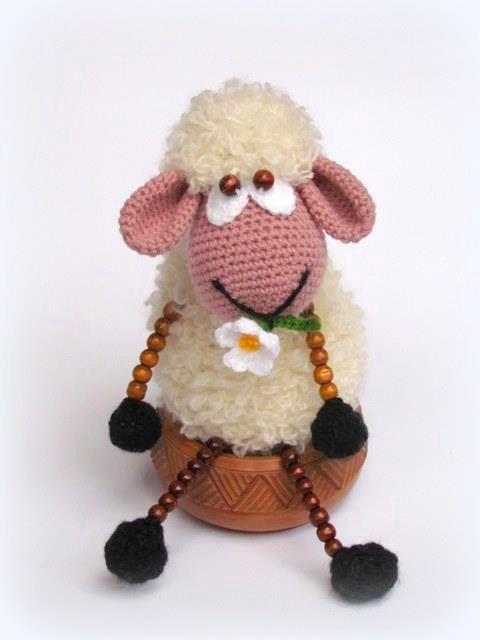 Etsy Amigurumi Sheep : Crocheted sheep toy crochet doll sheep by charmroses on ...
