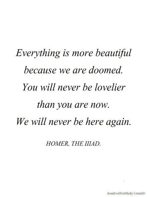 Homer, The Illiad.  @headswillrollbaby|facebook.