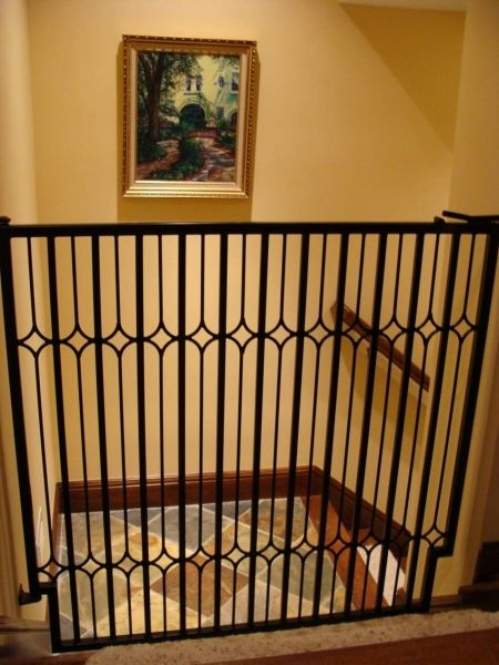 Indoor Metal Dog Gate Between Mud Room Area And Hallway