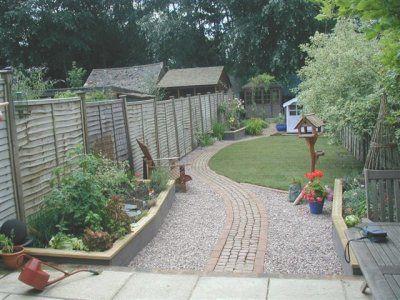 Nick phillips landscaping long narrow garden backyard for Garden design ideas long thin
