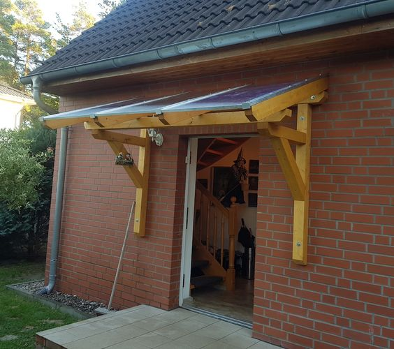 Massivholz Vordach Haustur Uberdachung Holzvordach Holz Pultdach Ab 149 95 Vordach Holz Holzvordach Vordach Hauseingang