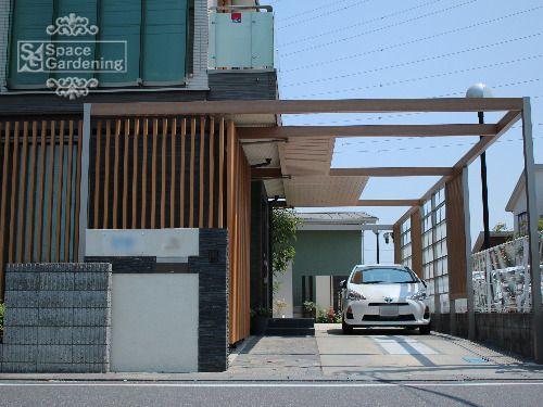 アプローチ屋根 Lixil プラスg 外構 建築デザイン 住宅 外観