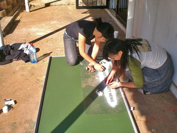Community chalk boards