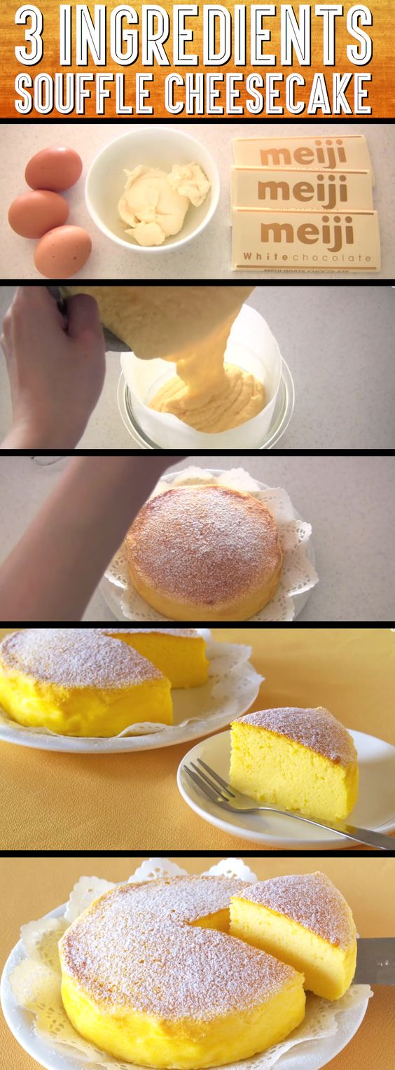 This Mouth-Watering Japanese Cheesecake Recipe Has Only Three Ingredients!