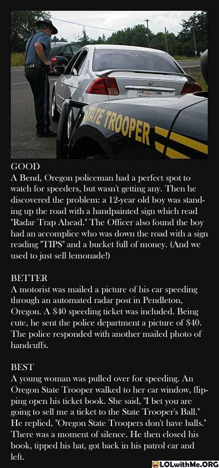 Oregon State Troopers: Good, Better, Best
