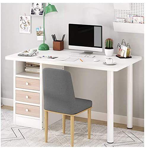 Gmoon Indoor Desktop Computer Desk Large Laptop Study Table Workstation Home Office Works Computer Desks For Home Desk With Drawers Home Office Computer Desk