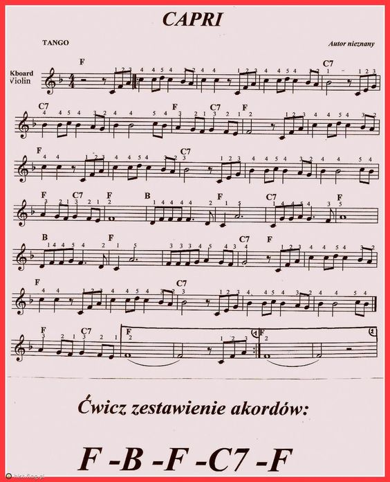 Christmas Canon Lyrics Sheet Music: Nuty Na Keyboard
