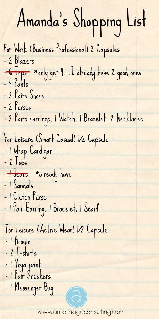 4 categories: Saturday bar/date, Sunday brunch/girl time, weekday workwear, weekday loungewear
