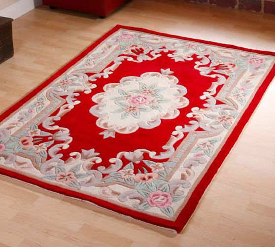 Chinese Red Rug Tientsin Chinese Aubusson Wool Rugs In