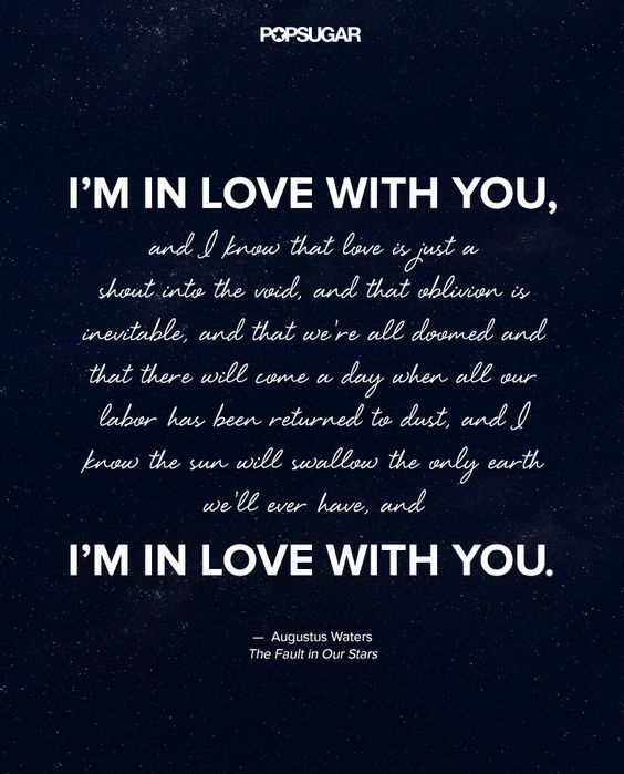 Expressing Love Quotes: The Most Beautiful Quotes From The Fault In Our Stars