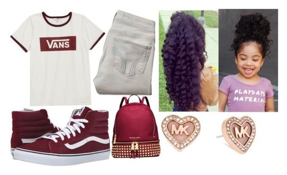 """""""Untitled #937"""" by niesha321 ❤ liked on Polyvore featuring beauty, Vans, Hollister Co. and Michael Kors"""