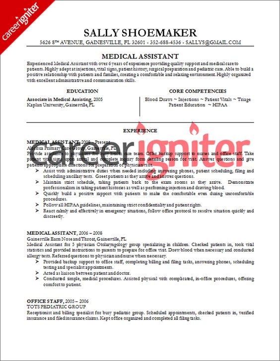 medical assistant medical and resume on pinterest