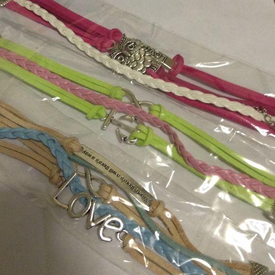 ❤️Super *SALE* bundle❤️ Three leather charm bracelets NWOT but in packaging make an offer ❤️❤️ Jewelry Bracelets