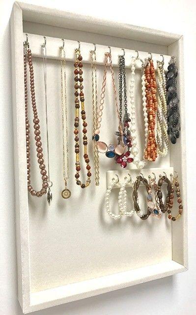 Pin By Yvonne Munoz On Jewelry Organization Organizer Wall Large Box Necklace Holder