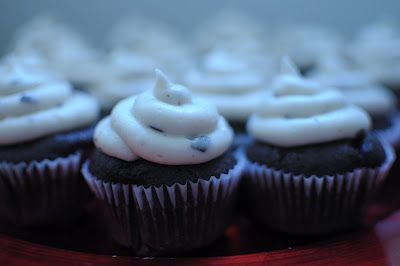 Mosho's pastries: Dark chocolate coffee cupcakes with After Eight frosting