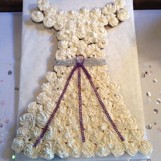 How To Make Cupcake Wedding Dress Wedding Dress Cake With Mini ...