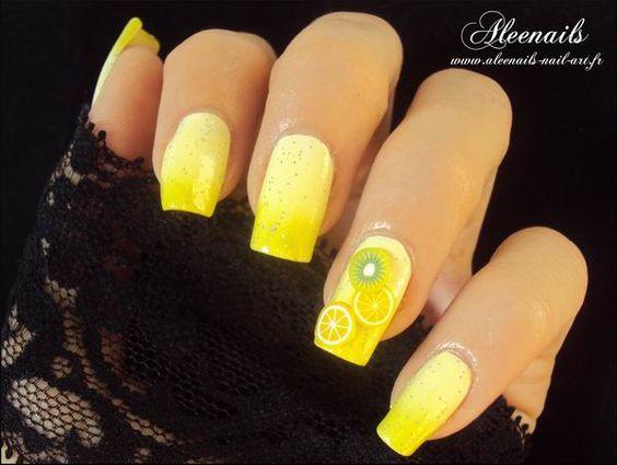 Nail Art – Tarte au Citron