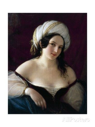 Odalisque, 1845 Giclee Print by Natale Schiavoni at AllPosters.com
