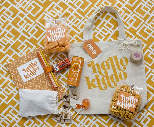 Kid gift bag. Great idea for kids table or gifties for the flower