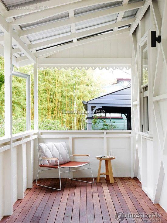 Bamboo floor balcony design 2016