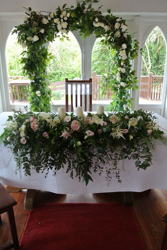 Ceremony Flowers - Large Tumbling Unity Arrangement - Daisy Chain Kinsale Weddings