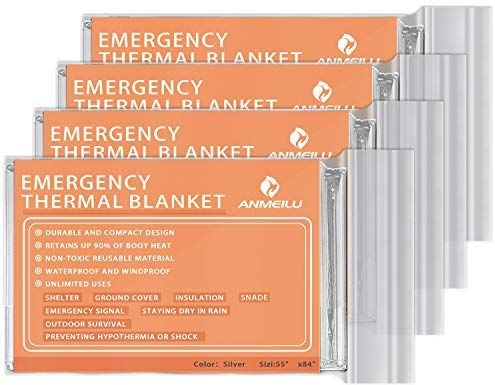Premium Foil Thermal Emergency Blanket First Aid Survival Outdoor Camping Kit