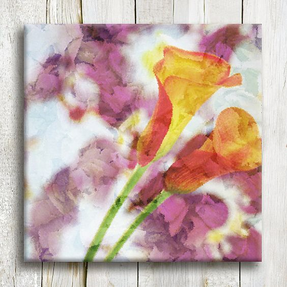 Floral printed art Canvas art 12/12 Framed art by OneDesign4U, $39.00
