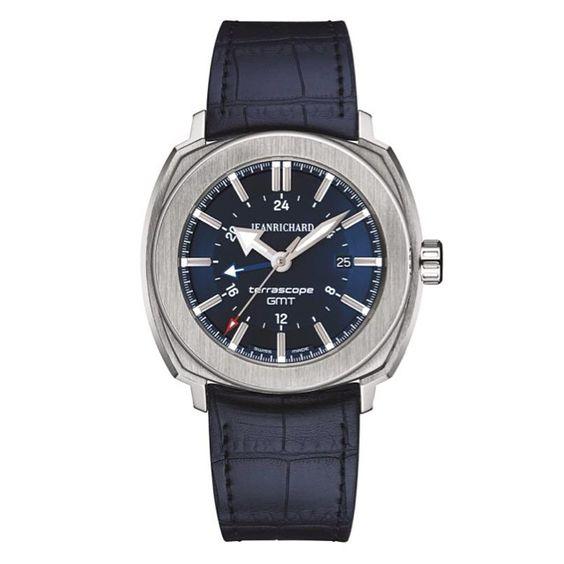 Terrascope GMT #bleue, choix de @magmontres pr un style sport chic #GMT #acier #rubbergator #automatique #watches #watchnerd #watchporn #watchoftheday #voyage #decalagehoraire #jetlag