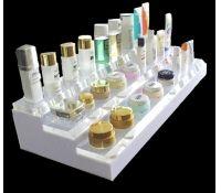 Custom acrylic makeup display stand with 3 tiers DMD-001