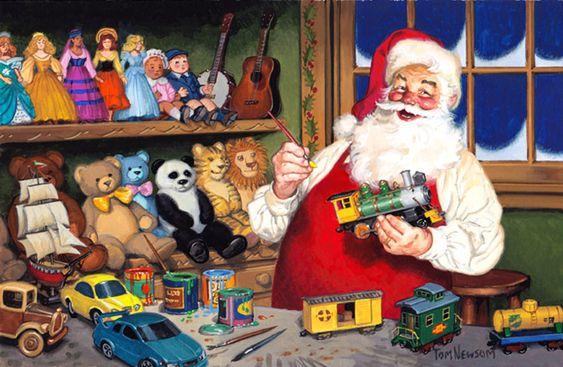 Tom Newsom (b.1944) —  Santas Workshop,  2011  (960×626):