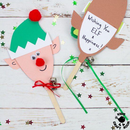 Puppet Elf Christmas Cards Elf Christmas Card Christmas Cards Free Christmas Crafts