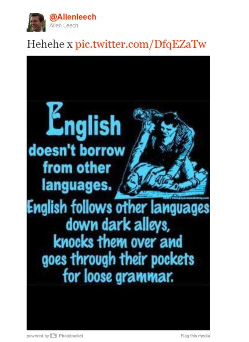 Bad English. Bad.