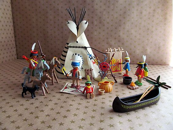 Vintage Playmobil Indian Camp - I think we had this and an Eskimo version in my Kindergarten classroom. I remember asking to play with it during free time if some of the other stations weren't open.