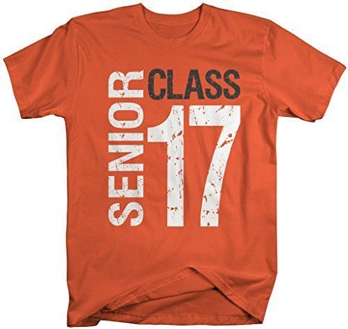 Shirts By Sarah Men's Senior Class T-Shirt 17 Shirts Seniors 2017 Distressed Tee - Black / XX-Large - 2