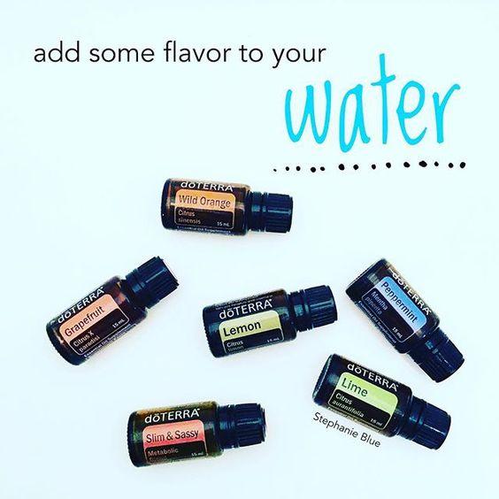 Love adding doTerra essential oils to my water. Just a drop. Tasty! www.mydoterra.com/ryanpilkington #doterra #essentialoils