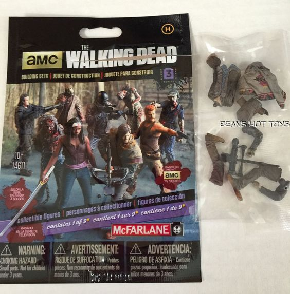 Walking Dead McFarlane Building Sets Series 3 Blind Bag  DARYL DIXON Figure #McFarlane
