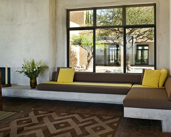 Modern built in bench seating design pictures remodel - Living room built in ideas ...