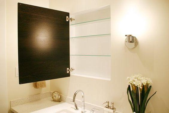 recessed medicine cabinet with a nexus cabinet door from ikea interiors pinterest medicine. Black Bedroom Furniture Sets. Home Design Ideas