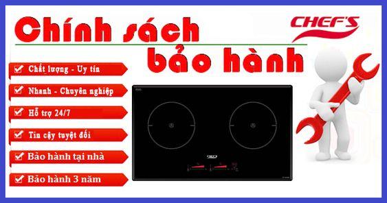Bếp từ Chefs EH DIH888 có thời gian bảo hành mấy năm?