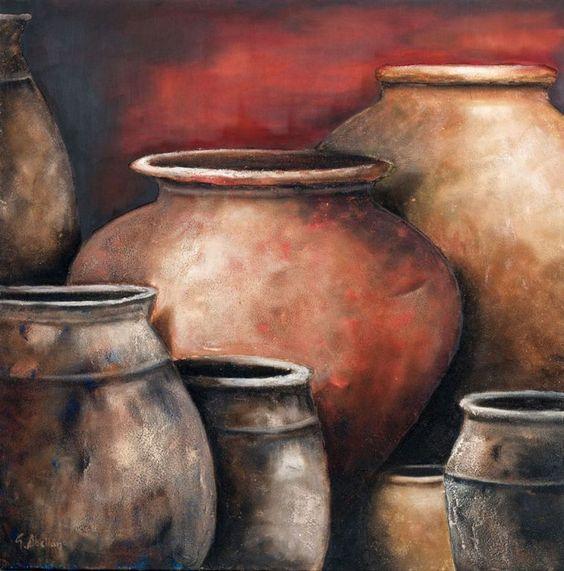 cuadros de tinajas de barro - Buscar con Google #buyart #cuadrosmodernos #art