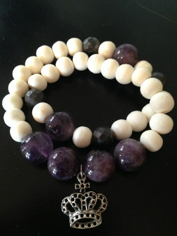Amethyst and bone double wrap bracelet from August Heart. For pricing and purchasing information, contact: Jamie Lewis jamielewisandco@gmail.com