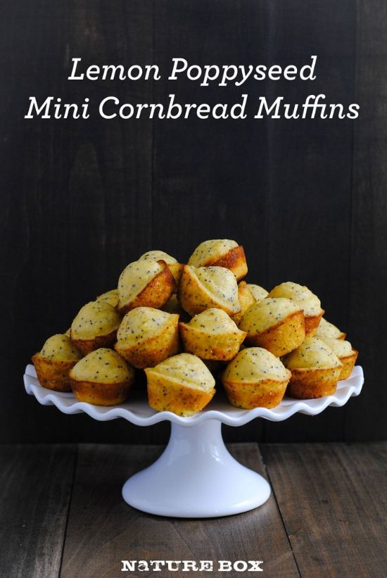 ... Poppyseed Cornbread Mini Muffins | Mini Muffins, Cornbread and Muffins