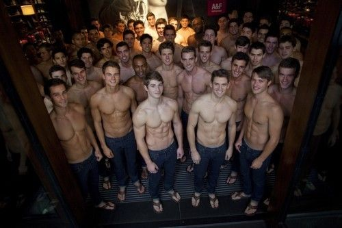hot shirtless guys to  help you shop during the holidays at a&f