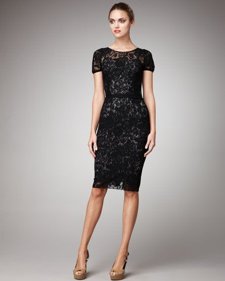 Dolce &amp- Gabbana - black lace dress. Would look beautiful with ...