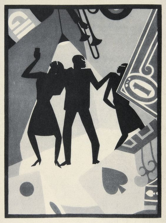 Jazz-like portrait by Aaron Douglas: