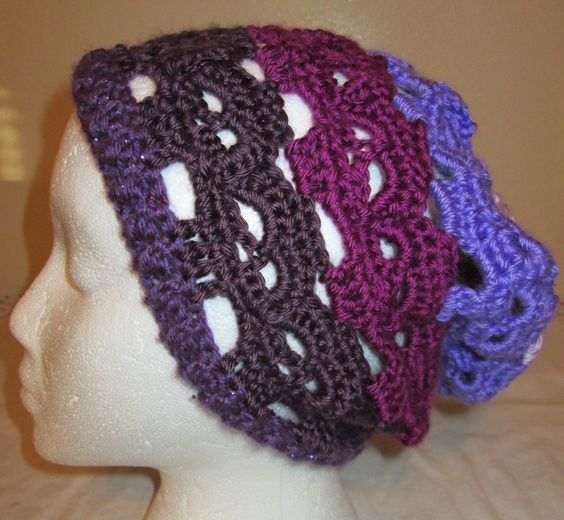 Crochet Skull Slouchy Hat | My Crocheted Creations For ...