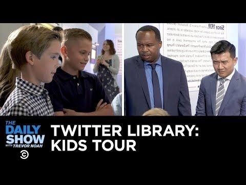 Kids Tour The Donald J Trump Presidential Twitter Library The Daily Show Youtube The Daily Show Donald Presidential
