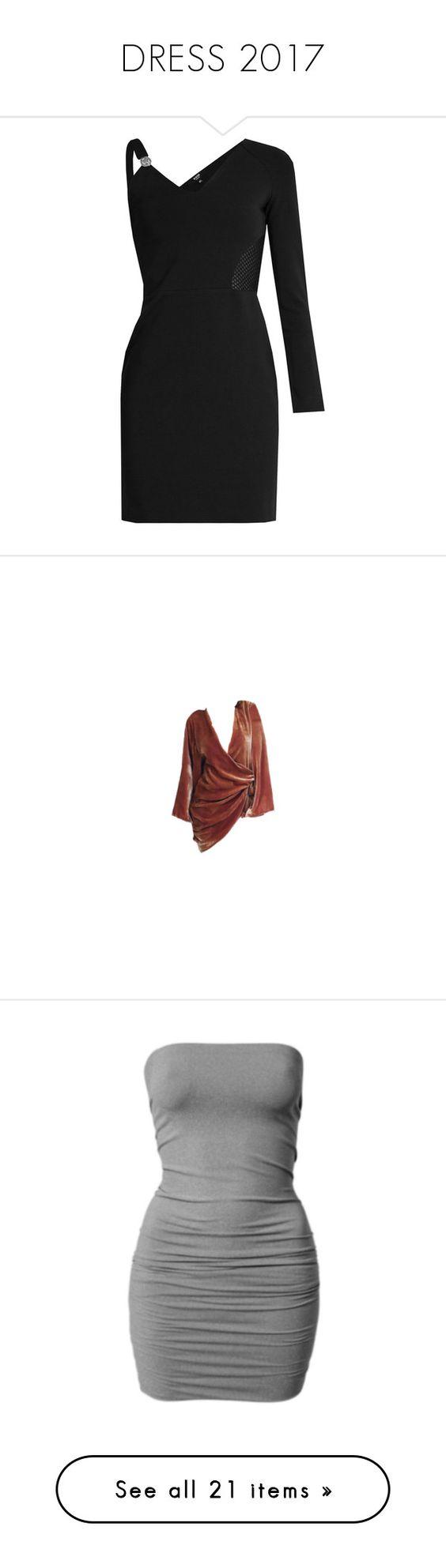 """DRESS 2017"" by neide-goncalvesbrito ❤ liked on Polyvore featuring dresses, black, metallic mini dress, long-sleeve mini dress, asymmetrical dresses, sporty dresses, sleeved dresses, delete, men's fashion and vestidos"